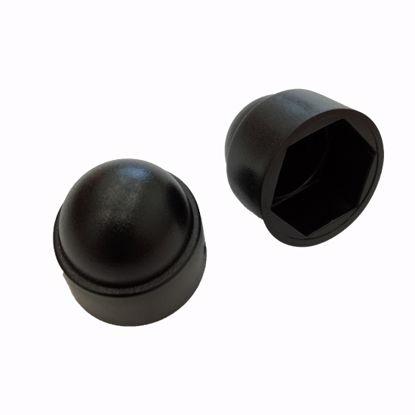 Obrázek Krytky šroubů a matic, LDPE, černé