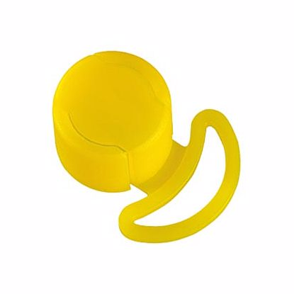 Obrázek Krytky s ouškem, LDPE, žluté, modré, nebo oranžové