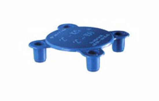 Obrázek z Krytky čel přírub s kolíky, LDPE, černé nebo modré