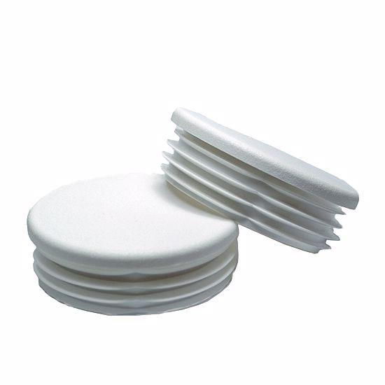Obrázek z Zátky trubek kruhové ploché LDPE bílé