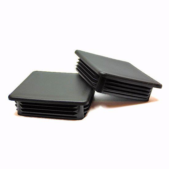 Obrázok z Zátky jaklov štvorcové LDPE čierne