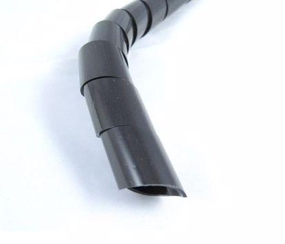 Obrázok Zväzkovacie špirály, PE, čierne