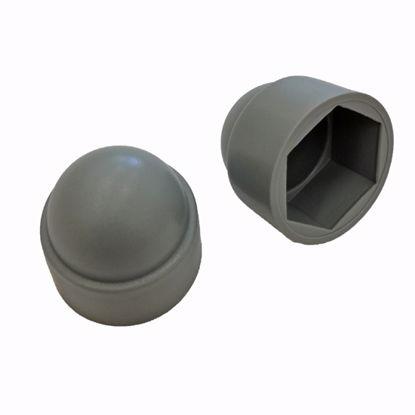 Obrázek Krytky šroubů a matic, LDPE, šedé