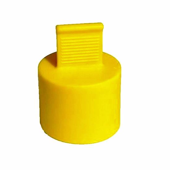 Obrázek z Pružné krytky s držákem, TPE, žluté