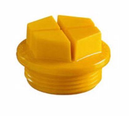 Obrázok Zátky so závitom tesniace Typ 1, PA 6, žlté