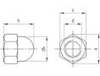 Obrázok z Matica klobouková plastová DIN 1587 PA 6.6