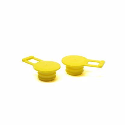 Obrázek Zátky s ouškem a dvěma lamelami, žluté, PE