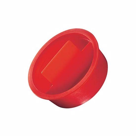 Obrázok z Kónické zátky s úchopom, LDPE, červené