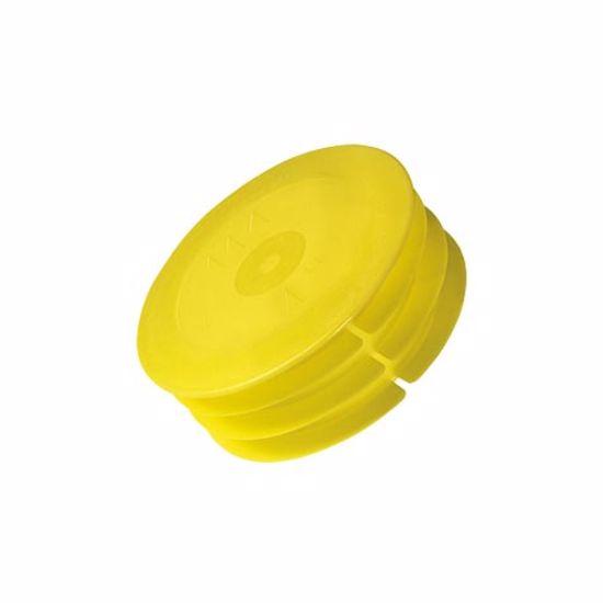 Obrázek z Zátky potrubí, LDPE, žlutá nebo modrá
