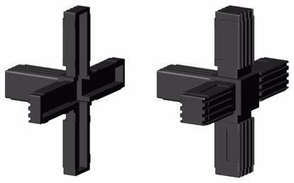"""Obrázek Spojka jeklů čtvercová, """"Kříž+1"""", černá"""