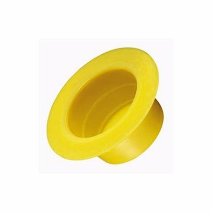 Obrázek Krytky/zátky kónické s velkou přírubou, LDPE, žluté