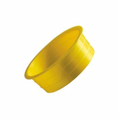Obrázek Zátky kónické,  LDPE, přírodní, žlutá nebo červená