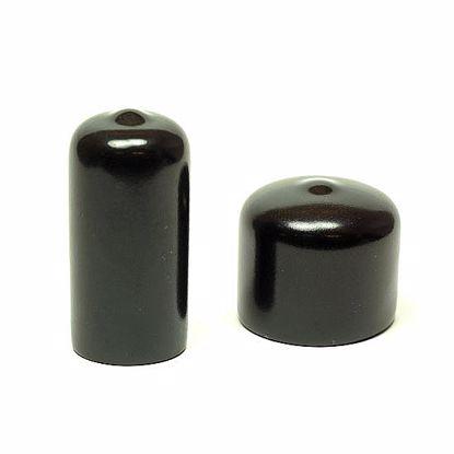 Obrázok Pružné krytky, kruhové, SHORE 68, PVC, čierne