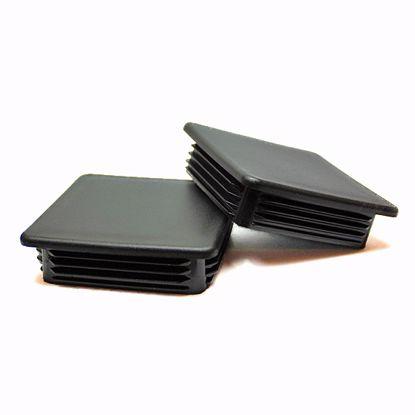 Obrázek Zátky jeklů čtvercové LDPE černé