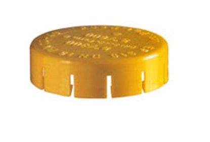 Obrázek Kryty čel přírub, LDPE, žluté