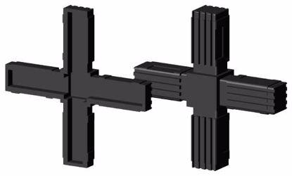 """Obrázek Spojka jeklů čtvercová, """"Kříž"""", černá"""