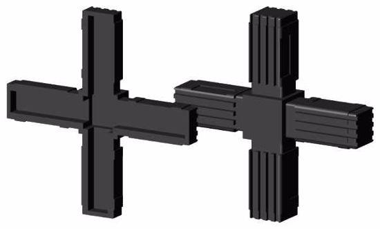 """Obrázek z Spojka jeklů čtvercová, """"Kříž"""", černá"""