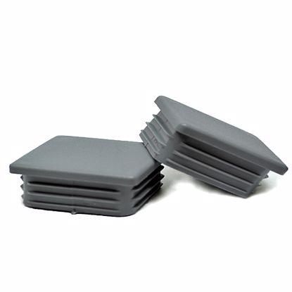 Obrázek Zátky jeklů čtvercové LDPE šedé