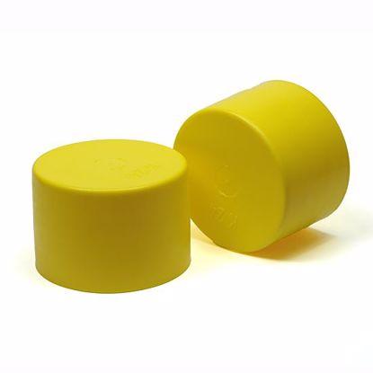 Obrázok Krytky rebrované, žlté, PE