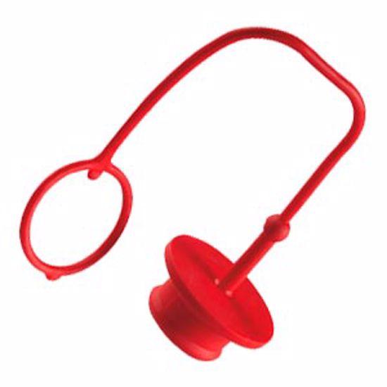 Obrázek z Chrániče rychlospojek - zátky, pryž, červená