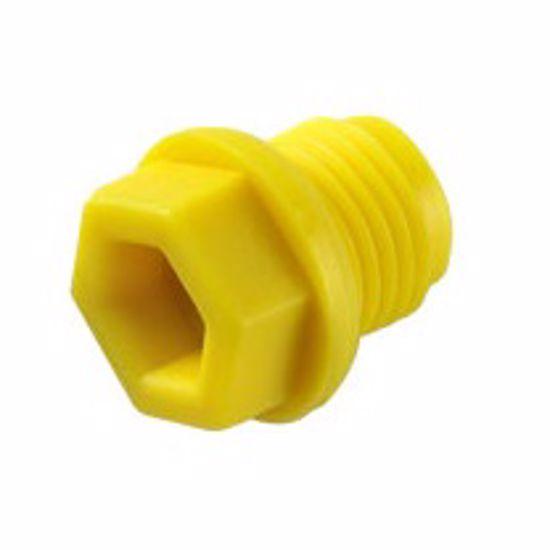Obrázek z Zátky se závitem těsnící Typ 3, PA 6, žluté