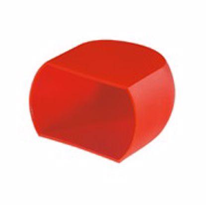 Obrázok Krytky prietokových skrutiek, LDPE, červené