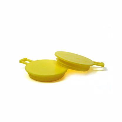 Obrázek Zátky s ouškem a jednou lamelou, žluté, PE