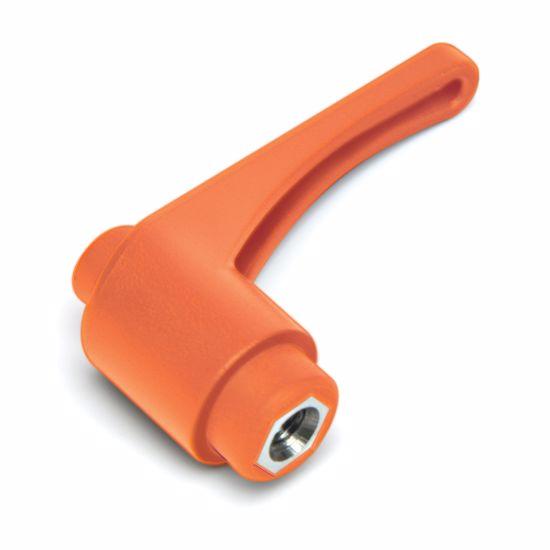Obrázek z Nastavitelná upínací páka se závitem M8, plast, délka 63mm, oranžová