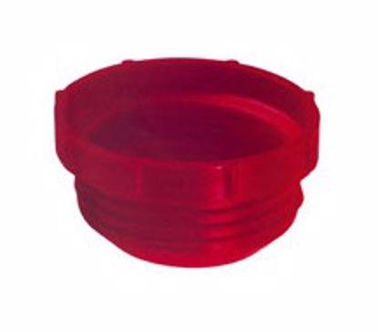 Obrázok Zátky so závitom BSP, LDPE, červené