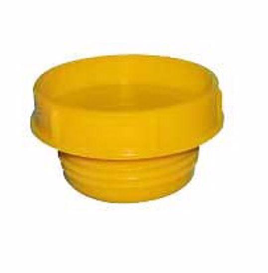 Obrázok z Zátky so závitom Typ 2, LDPE, žlté