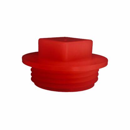 Obrázek Zátky se závitem Typ 5, červené, PP