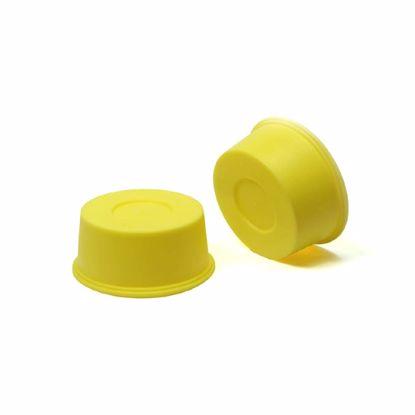 Obrázek Krytky-zátky kónické Typ 2, žluté, LDPE