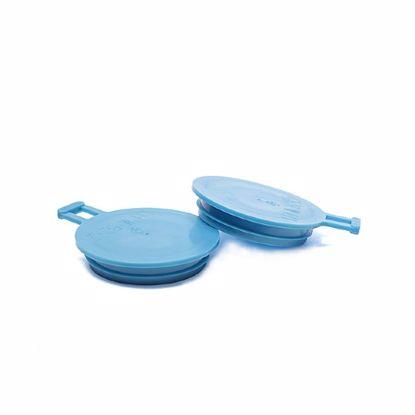 Obrázek Zátky s ouškem a jednou lamelou, modré, PE