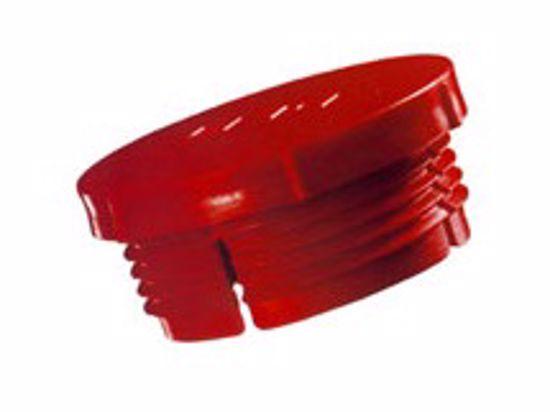 Obrázek z Zátky se závitem Typ 1, LDPE, červené
