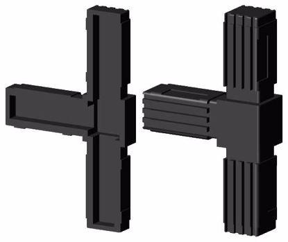 """Obrázek Spojka jeklů čtvercová, """"T"""", černá"""