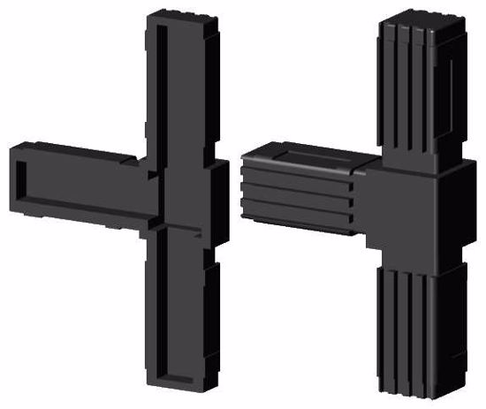 """Obrázok z Spojka jaklov štvorcová, """"T"""", čierna"""